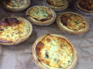 Enjoy a regular or mini-sized quiche made with fresh Ontario asparagus.